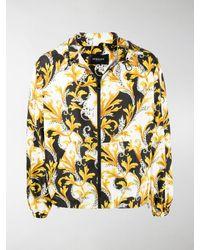 Versace Barocco Acanthus Drawstring-hood Jacket - Black