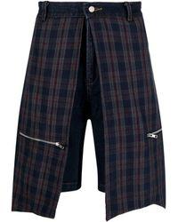 Youths in Balaclava Jeans-Shorts mit Einsätzen - Blau