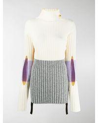 Moncler Genius Colour-blocked Ribbed-knit Turtleneck Jumper - Multicolour