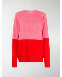 Givenchy 4g Two-toned Knitted Sweater - Pink