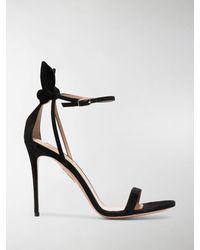 Aquazzura Bow Tie 105mm Bow Sandals - Black
