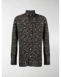 Tom Ford Animalier Leopard Print Shirt - Black