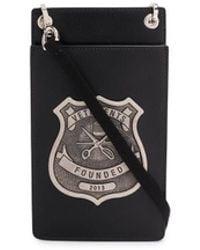 Vetements Police Badge Crossbody Bag - Black