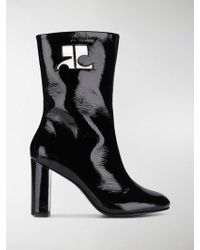 Courreges - Patent Ankle Boots - Lyst
