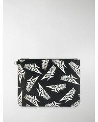 Givenchy Clutch con logo stampato - Nero
