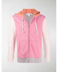 Comme des Garçons Colour-block Hoodie - Pink