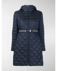 Max Mara Diamond Quilted Puffer Jacket - Blue