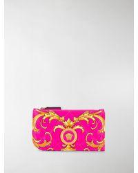 Versace Medusa Barocco Print Purse - Pink