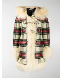 Miu Miu Check-pattern Single-breasted Coat - Multicolor