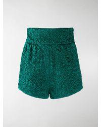 Saint Laurent Vestito corto effetto coccodrillo - Verde