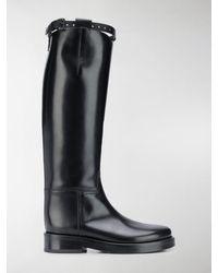 Ann Demeulemeester Knee Length Riding Boots - Black