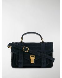 Proenza Schouler Suede Ps1 Tiny - Blue
