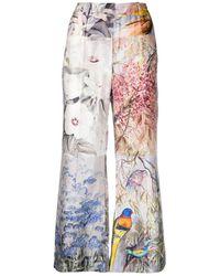 Zimmermann Pantaloni svasati con design patchwork - Multicolore