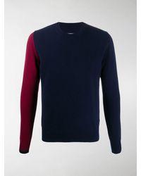 Maison Margiela Pullover in Colour-Block-Optik - Blau
