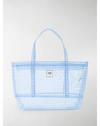 Opening Ceremony Gingham Small Chinatown Tote - Blue
