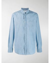 Officine Generale Antime Chambray Shirt - Blue