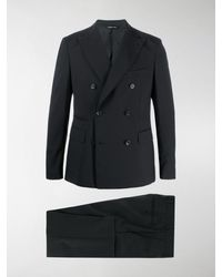 Tonello Double-breasted Two-piece Suit - Black