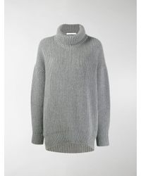 Givenchy Oversized Funnel-neck Sweater - Gray