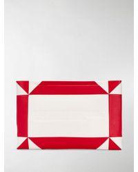 CALVIN KLEIN 205W39NYC Logo-embossed Geometric Clutch - White