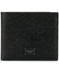 Dolce & Gabbana - Logo Plaque Bi-fold Wallet - Lyst