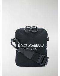 Dolce & Gabbana Borsa messenger con stampa - Nero