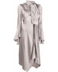Tom Ford Draped Asymmetric Dress - Grey