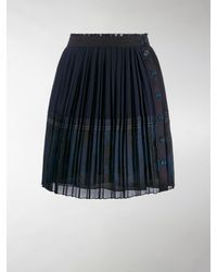 Chloé Pleated Mini Skirt - Blue
