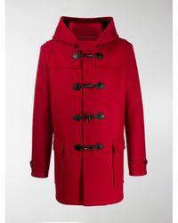 Saint Laurent Hooded Duffle Coat - Red