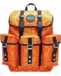 Gucci Off The Grid Rucksack mit GG - Orange