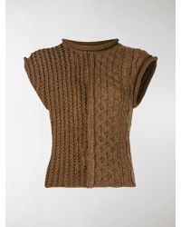 Chloé Multi-knit Sweater Vest - Brown