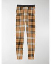 Burberry Vintage Check Pattern leggings - Brown