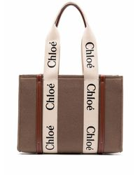 Chloé Woody Tote Bag - Brown