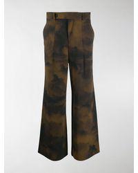 A_COLD_WALL* * Pantaloni con stampa Terrain - Verde