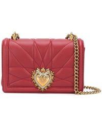 Dolce & Gabbana 'Devotion' Umhängetasche aus Leder - Rot