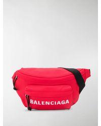 Balenciaga Wheel Belt Bag - Red