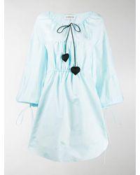 Lanvin Jacquard-knit Puffed Dress - Blue