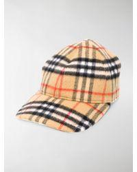 Burberry - Vintage Check Wool Baseball Cap - Lyst