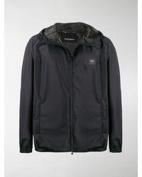 Dolce & Gabbana Logo Plaque Hooded Jacket - Black
