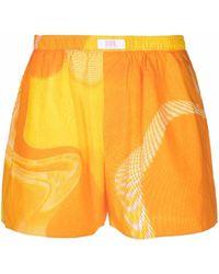ERL Badeshorts mit abstraktem Muster - Orange