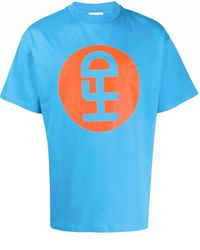 Honey Fucking Dijon Logo Print T-shirt - Blue