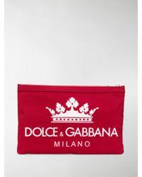 Dolce & Gabbana - Small Logo Print Pouch - Lyst