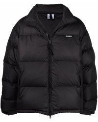 Vetements Logo Down-padded Puffer Jacket - Black