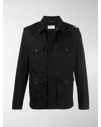 Saint Laurent Embellished Military Jacket - Black