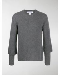 Comme des Garçons Pullover im Layering-Look - Grau