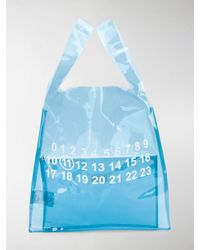 Maison Margiela Printed Detail Clear Bag - Blue