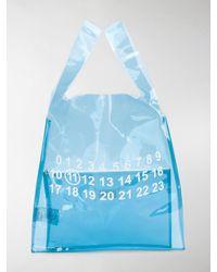 Maison Margiela Printed Detail Clear Bag - Blue