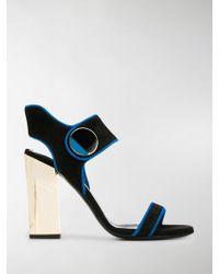 Lanvin New Elliptique Suede Sandal - Black