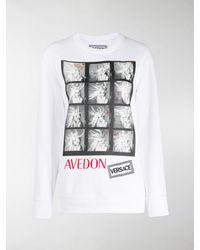 Versace 'Avedon' T-Shirt mit Foto-Print - Weiß