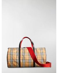 Burberry - Large Vintage Check Bag - Lyst