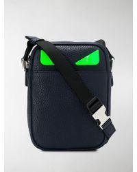 Fendi Small Bag Bugs Crossbody Bag - Blue